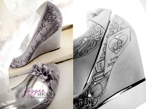 Linda D | Personalized Silver Wedding Wedge Heels - a photo on ...