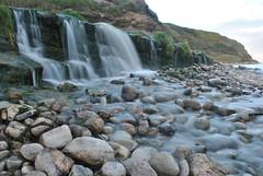 Silkyfall (AndyPandy1990) Tags: longexposure light sunset colour water misty fun waterfall rocks long exposure waves cove liquid mistywater