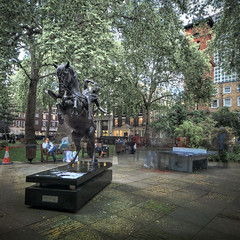 London 2012 July 19th (violinconcertono3) Tags: london statue evening landscapes flickr fineart soho cityscapes sohosquare fineartphotography davidhenderson london2012 londonist fineartphotographer londonphotographer 19sixty3 19sixty3com tableteninis