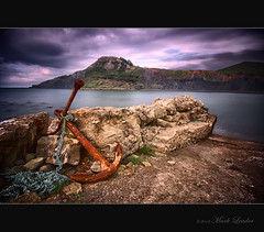 Anchor at Chapmans pool (Mark Leader) Tags: art print poster rust rocks decay wallart rope cliffs hills canvas dorset anchor decor hdr highdynamicrange wallhanging chapmanspool