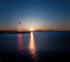 K20D8326 (Bob West) Tags: nightphotography lighthouse ontario night lakeerie greatlakes moonrise nightshots erieau southwestontario bobwest sigma24mm k20d eastlighthouseerieau