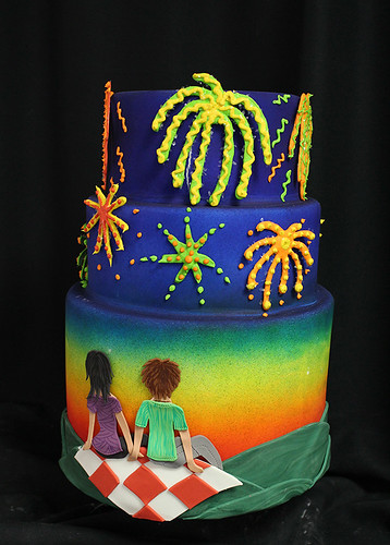 Fireworks Picnic Cake