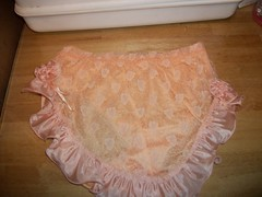 013 (limeyrose) Tags: panties peach sissy lacy frilly