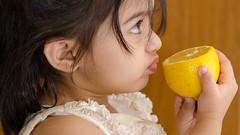 A taste of sour... (Shakil_Ahmad) Tags: baby cute girl kids children lemon nikon taste tasting toddlers d5100