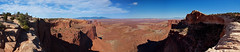 Pano: Over Mesa Arch (ethanbeute) Tags: family vacation panorama june utah nationalpark nps walk district pano panoramic canyon hike canyonlandsnationalpark canyonlands moab photomerge 2012 mesaarch islandinthesky washerwomanarch