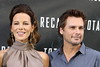 Kate Beckinsale, Len Wiseman Los Angeles photocall for 'Total Recall', held at The Four Seasons Hotel in Beverly Hills Los Angeles, California