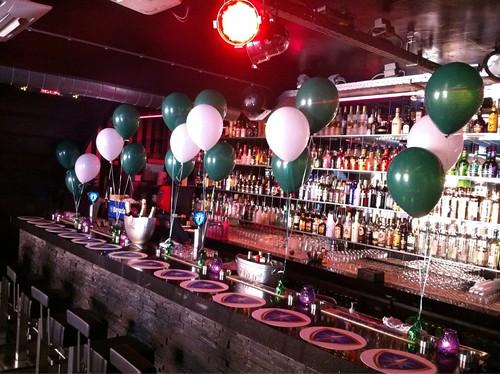 Tafeldecoratie 3ballonnen Bar Tops Spijkenisse Huldiging Rotterdamboot Winnaar Publieksprijs Canalparade Gaypride 2012