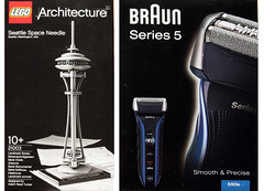Design series both from Braun and Lego (roomman) Tags: seattle city blue usa black game building male adam tower art history reed architecture vintage germany toy switch design us washington cool play hessen lego symbol box 10 5 five foil frankfurt space smooth landmark pg clear architect grooming pack needle button packaging wa series spaceneedle boxes products neat braun dieterrams straight innovation dieter rams tucker product gamble 2012 shaver hesse 550 procter precise seattlespaceneedle sehenswrdigkeiten innovative proctergamble series5 malegrooming 550s adamreedtucker landmarkseries smoothprecise seriechefsdouevre
