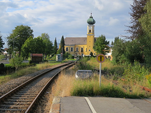 The Catholic church at Frauenau taken from the train station.