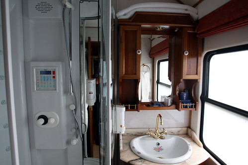 El Transcantabrico Clasico, luxury train in northern Spain, private bathroom