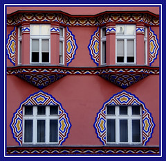 Ljubljana Geometries (little_frank) Tags: street city travel windows red white flower detail building geometric composition facade photography design town nice europe pattern place shot geometry decorative lj capital decoration picture style palace minimal line particular slovenia crop frame ljubljana capitale elegant typical capture oldtown tangle disegno citt fragment geometria composizione laibach edifice dettaglio linee mitteleuropa intreccio lubiana minimale liubliana