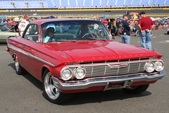1961 Chevy (osubuckialum) Tags: show red cars chevrolet car nc charlotte northcarolina chevy hotrod custom carshow 1961 2012 61 redcar goodguys charlottemotorspeedway
