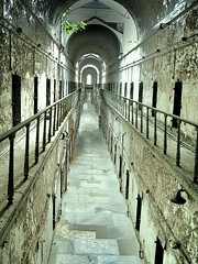 Eastern State Penitentiary ~ Jail Section  ~ Philadelphia PA (Onasill ~ Visiting ~ Will Return Comments Soon.) Tags: door philadelphia architecture us state pennsylvania district interior gothic places landmark historic prison pa national american jail fairmount eastern alcapone penitentiary nrhp onasill
