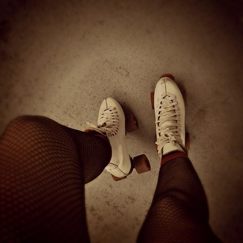 feet boots flood rollerskates oldschool spotlight retro fishnets yeartwo fwis floodie