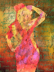 Away with words (Joelstuff V4) Tags: pink woman art texture writing words burlesque