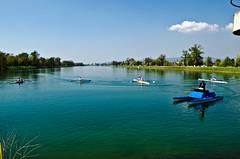 Few seconds before start ... (roksoslav) Tags: nikon croatia zagreb rowing 2014 jarun veslanje doublescull nikkor1855mmf3556dx d5100 dvojacnapariće