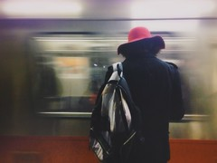 Red hat on the red line (AnthonyTulliani) Tags: travel boston train stranger commute mbta iphone iphone5 vsco iphoneography vscocam vscolover