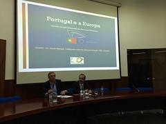 """Paulo Rangel, Cabeça de Lista da Coligação """"Aliança Portugal"""", na Conferência """"Portugal e a Europa,eleições para o Parlamento Europeu"""". 13 de abril de 2014."""