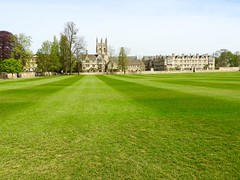 Merton College Oxford (heathernewman) Tags: city uk trees england building green college university outdoor oxford limestone oxfordshire turf cricketpitch mertoncollege cityscene mertonfield