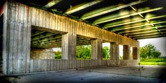 5 Squares - Explored (Three D Photography) Tags: bridge trees light plant underpass concrete nikon hdr d600 2485mm f3545