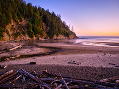 Oswald sunset (Jim Nix / Nomadic Pursuits) Tags: travel sunset oregon photography olympus pacificocean pacificnorthwest cannonbeach hdr goldenhour lightroom oswaldweststatepark mirrorless nomadicpursuits macphun jimnix olympusomdem1 aurorahdrpro