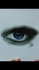 Watching you. (davidjay6) Tags: iris portrait art beautiful pencil eyes purple charcoal selftaught myart prettyeyes graphite shading
