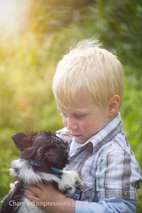 Best Friends (livininfrostytown) Tags: boy pet sun love sunshine puppy utah spring son rays furbaby trenton 3yrsold 2016 newlove charmedimpressions
