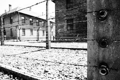 Auschwitz - Poland (Sblendone) Tags: camp blackandwhite bw white black canon freedom holocaust blackwhite frames hitler ss poland krakow polish burnt german terrible offering block fascism camps cracow auschwitz bianconero polonia sacrifice cracovia fascismo nazism whitest olocausto nazismo deepblack sblendone