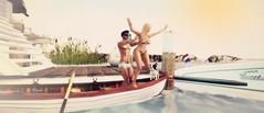 NoOooo !!!!! (BijankRau | [ photograp'r model.]) Tags: ocean sea never swimming boat trust tropical pushed waterfun poses wedosl