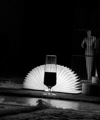 So close (simmosimpsonphotography) Tags: wooden man model cage wine alcohol beer light lamp fan glass dark floor rug