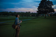 Country Club (Evan's Life Through The Lens) Tags: camera blue friends light summer sky orange hot color green glass beautiful grass club night work canon ball golf lens photo warm walk vibrant sony country illumination course adventure job f28 2016 2470mm a7s