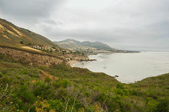 Cave Landing (kirstenscamera) Tags: road morning beach june clouds town nikon cloudy walk gray overcast hike cave pismo slo deadend avilabeach 2016 cavelandingroad