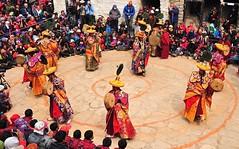 Nepal-Mustang-Lo mantang- buddhist Tiji festival (venturidonatella) Tags: nepal people colors portraits asia buddha danza hats buddhism persone monks mustang colori cham d300 monaci tiji lomantang nikond300 tijifestival
