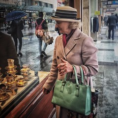 Everyday #Adelaide No. 278 (Autumn/Winter) (michelle-robinson.com) Tags: life street people woman hat lady humanity candid streetphotography documentary australia streetlife adelaide everyday society southaustralia windowshopping michellerobinson flickrelite iphonephoto 4tografie snapseed vscocam michmutters ipadair iphone6plus editedonipadair