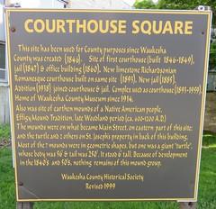Courthouse Square Marker (Waukesha, Wisconsin) (courthouselover) Tags: wisconsin waukesha wi waukeshacounty courthouseextras robertgkirschjr milwaukeemetropolitanarea