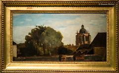 DSC8466 Jean-Baptiste-Camille Corot - Orlens, paisaje tomado desde una ventana con vistas a la torre Saint-Paterne, hacia 1830, Museo de Bellas Artes de Orlans (ramonmunoz_arte) Tags: de orleans muse des museo artes francia bellas beauxarts