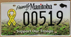 MANITOBA SUPPORT OUR TROOPS ---LICENSE PLATE (woody1778a) Tags: support our troops bombers manitoba sports licenseplate numberplate collection collector mycollection myhobby alpca1778 woody