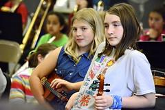 Violas in waiting (rachel.roze) Tags: school hanover viola aurelia bandconcert brynne rayschool 5thgradeband june2016