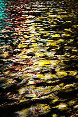 TRUE COLORS (natascha_huls) Tags: street camera city nightphotography travel light red summer urban streetart black color colour reflection travelling green art texture water colors amsterdam yellow closeup night contrast swim canon dark boat canal artwork colorful europe european waves nightlights colours nightout details thenetherlands streetphotography nopeople reflected nightlife lightning colourful boattrip waterreflection