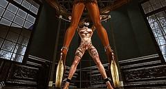 001 (djolyx) Tags: sexy fetish noir bdsm piercing sl secondlife rack plug mistress kinky slave sheer