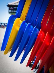 Primary colours (S's images) Tags: plastic seaside bucket spade bognor regis esplanade summe