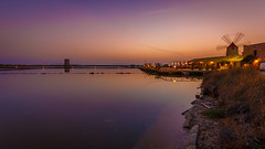 Salt Sunset (WaSz-Fotograf) Tags: travel blue light sunset sea summer sky italy sun water beautiful beauty night clouds italia it sicily sicilia trapani wochy 500px paceco ifttt
