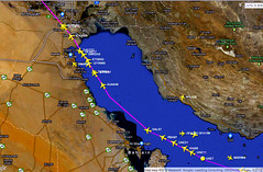 International Highway in the sky: Gulf of Persia at night (PictureJohn64) Tags: travel sky night plane flying airport nikon highway flickr gulf traffic aircraft aviation air transport flight sigma persia aeroplane international transportation machines flughafen avio flugzeug avin aeropuerto aereo airliner avion aviones aerodrome vliegtuig reizen vliegveld planespotting aviacion d60 avies aeronautical spotter aerodynamics flyet compagniesariennes lineaarea flyselskab amantesdaaviao radarpicturejohn64