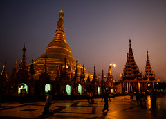 Shwedagon Paya after dark (Lil [Kristen Elsby]) Tags: travel topf25 topv2222 architecture night temple gold golden pagoda asia dusk shwedagon yangon burma stupa buddhist bama religion buddhism wideangle temples myanmar lit paya gilded afterdark shwedagonpagoda rangoon gilt canon1635f28l travelphotography shwedagonpaya myanma canon163528l shwedagonzedidaw canon5dmarkii myanmar2012