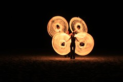 Fire rope poi / fire snakes (Cape Town Guy) Tags: fire sticks staff poi firepoi devilsticks firestaff flowersticks