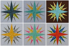4x5 Bee First Quarter 2012: Beehive 5 Blocks (jenjohnston) Tags: star compass quiltblock paperpieced quiltingbee 4x5bee