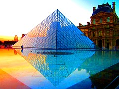 The Louvre Pyramid at sunset (Peggy2012CREATIVELENZ) Tags: pink sunset orange brown white man black paris water glass lines wheel yellow reflections niceshot pyramid dusk fuschia harmony mauve reflexions thelouvre wow1 wow2 finegold thegalaxy heartawards colourvisions vanagrammofontheoldgramophone thedigitographer doubledragonawards artofimages flickraward visionaryartsgallery sapphireawards tufotoesarte vangoghaward blinkagain nossasvidasnossomundoourlifeourworld rhapsodicpoemsofhomer chariotsofartists vivalavidalevel1 peggy2012creativelenz img1204ap thelooklevel1red thelooklevel2yellow purecolorandshape