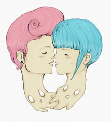 Every Start Is A New Ending (Asaph Luccas) Tags: girls art love illustration drawing lovers lesbians
