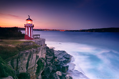 Hornby Lighthouse (-yury-) Tags: ocean light sunset sea lighthouse night landscape photography harbour sydney australia nsw