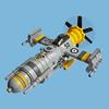 Bekkōbachi 5D Zero - Sky Fighter (Fredoichi) Tags: plane lego space military micro shooter shootemup skyfi shmup microscale dieselpunk skyfighter fredoichi